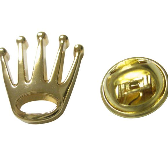 Kiola Designs Gold Toned Etched Oval Complex Virus Cufflinks